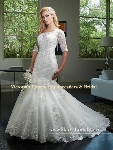 Wedding Dress by P.C. Mary\'s # 6408 – Victoria\'s Elegance ...