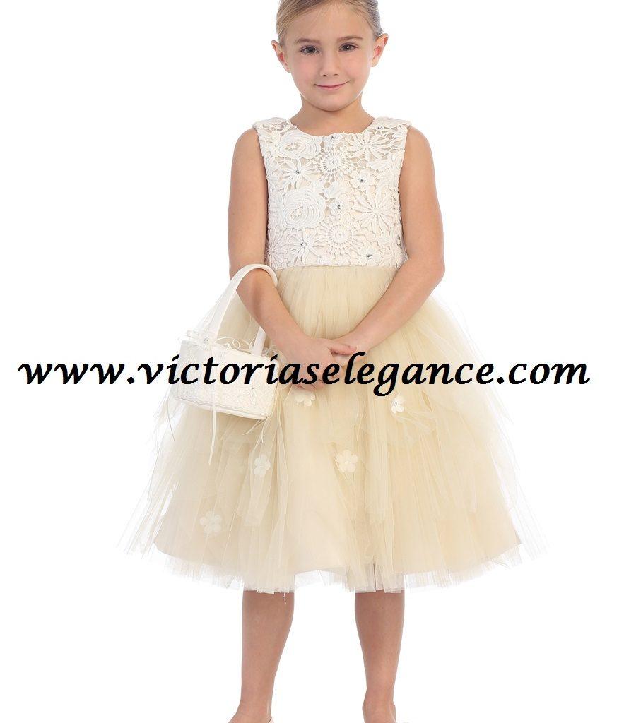 Tulle Flower Girl Dress Tip Top 5654 |