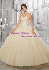 Style 60024 in Champagne @ www.victoriaselegance.com