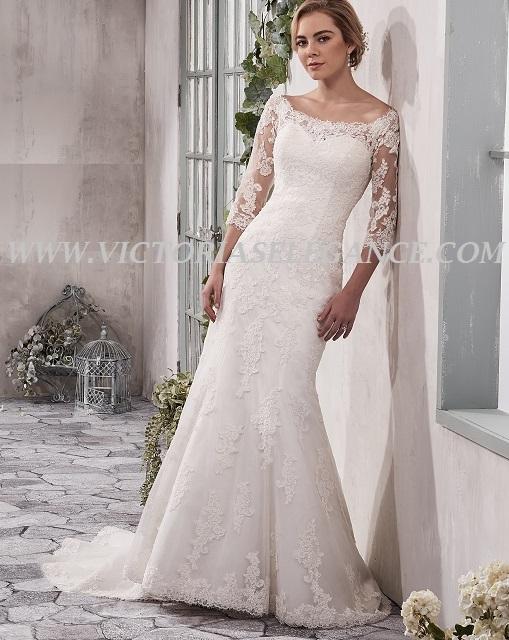 Mermaid Bridal Gown Portrait Neckline MB3023 – Victoria\'s Elegance ...