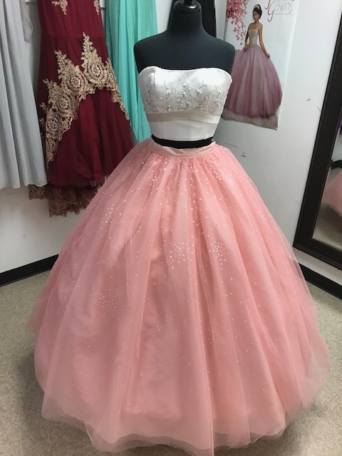One of a Kind Two-Piece Satin/Tulle Ball Gown P.C. Mary\'s 7218C ...