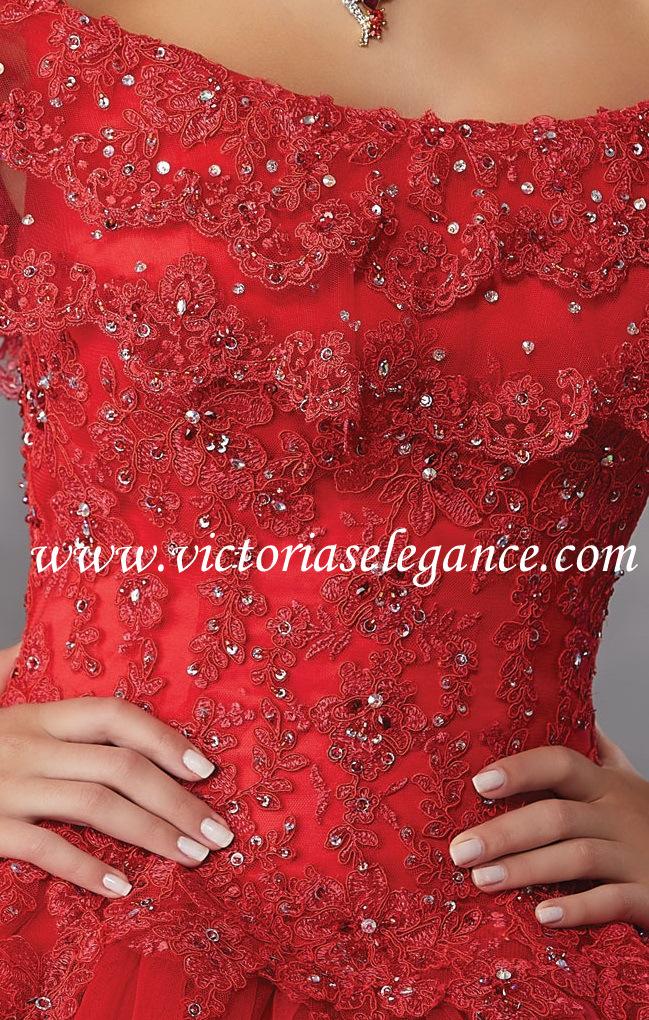 474e909db84 Beaded Lace Appliqués Tulle Ballgown ML 89168 – Victoria s Elegance  Quinceañera   Bridal