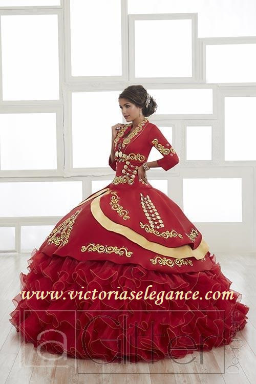 House of Wu Satin \u0026 Two,Tone Taffeta Charro Gown