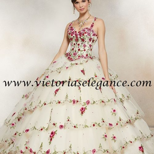 Crystal Beaded Embroidery on Tulle Ball Gown, Morilee, Prom Gala Pageant, Quinceanera Ball Gown, Sweet 16,