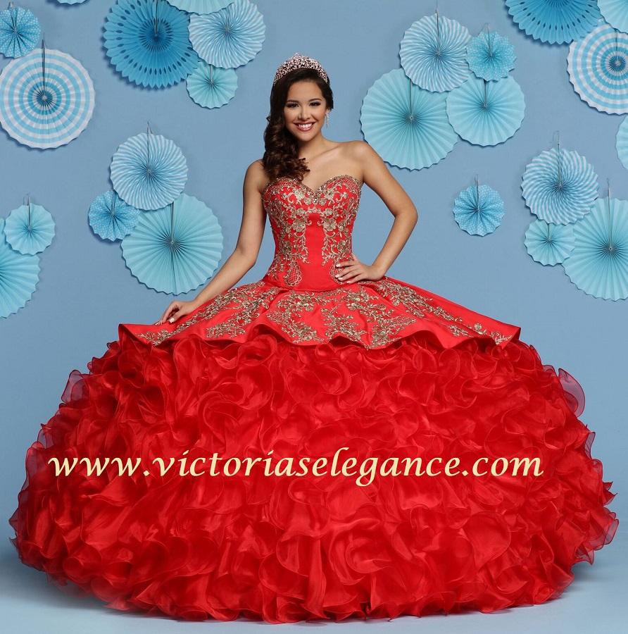 Da Vinci Wedding Gowns: Ruffled Organza Ball Gown Q By DaVinci 80431