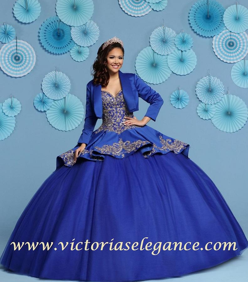 Da Vinci Wedding Gowns: Satin & Tulle Ball Gown Q By DaVinci 80438