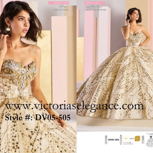 Ragazza Fashion, Ether, Quinceañera, Couture Gown