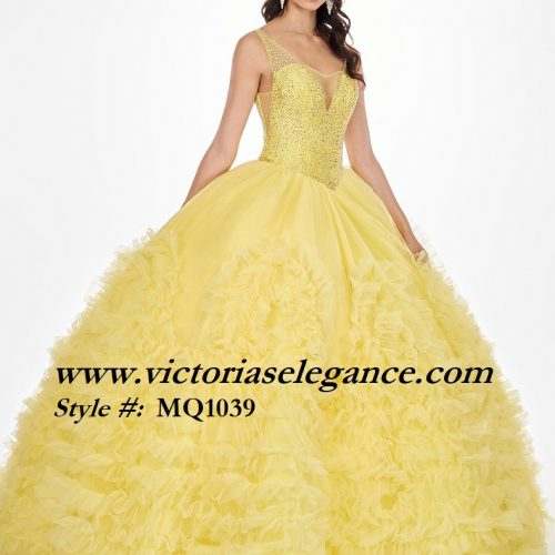 Crystallized Tulle Ball Gown, Victorias Elegance, quinceañera, gala