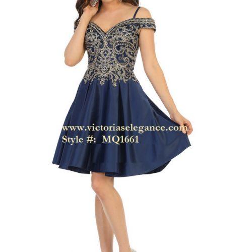 Short Dress off-the-shoulder, bridesmaid dress, dama's dress, prom gala pageant, sweet 16